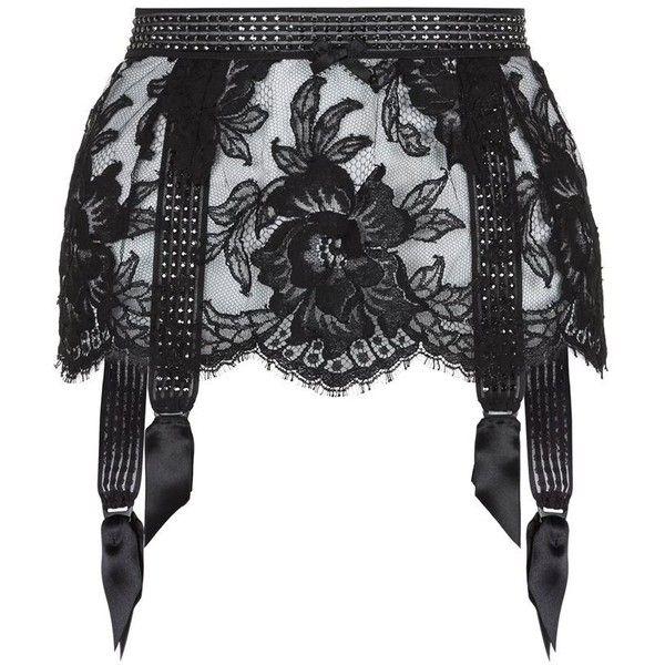 Agent Provocateur Aneliya Suspender Belt featuring polyvore, fashion, clothing, intimates, garter belt, suspender belt and agent provocateur