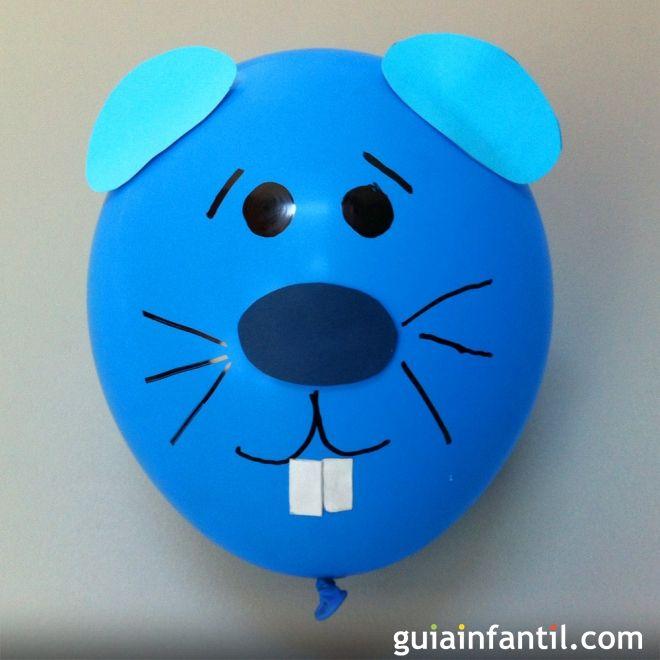 Cómo hacer un ratón con un globo
