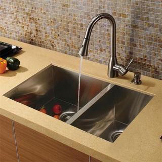 VIGO Corrosion Resistant Undermount Stainless Steel Kitchen Sink, Faucet  And Dispenser By Vigo Amazing Ideas
