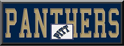 Pittsburgh Panthers Team Name Are Mat Cut Out Letters With Team Color Double Matting & Team Logo Under-Awesome & Beautiful Large Picture-All Teams Available-Please Go Through Description & Mention In Gift