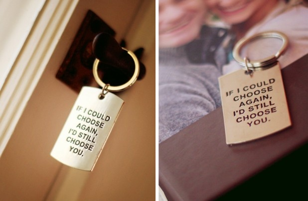 "Super cute for Valentine's Day. ""If I could choose again, I'd still choose you."" Romantic Key Chain on Groopdealz today for $4.75"