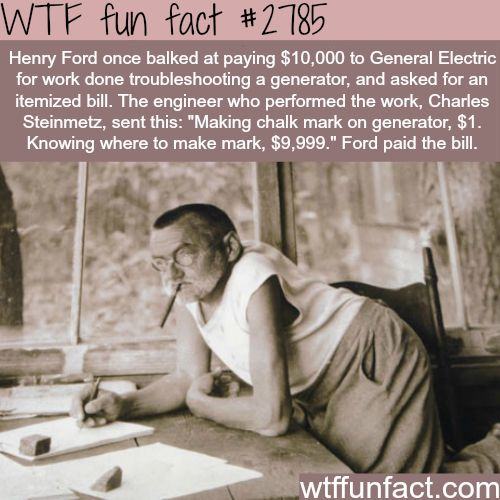 Charles Steinmetz meets Henry Ford -WTF fun facts