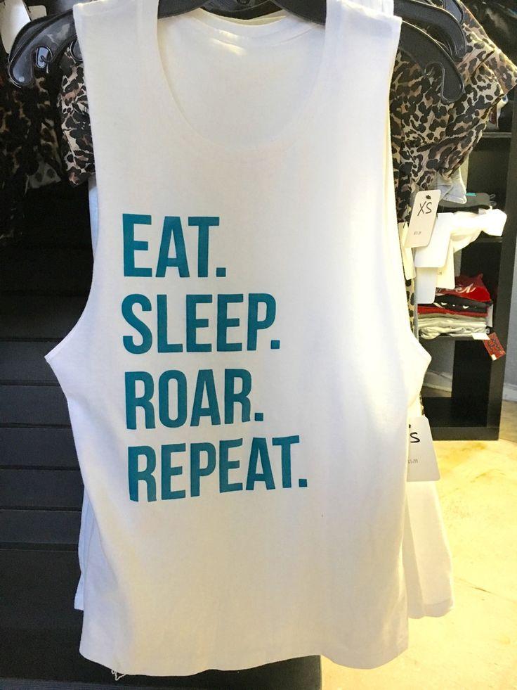 Eat Sleep Roar Repeat Jacksonville Jaguars Festival Tank top