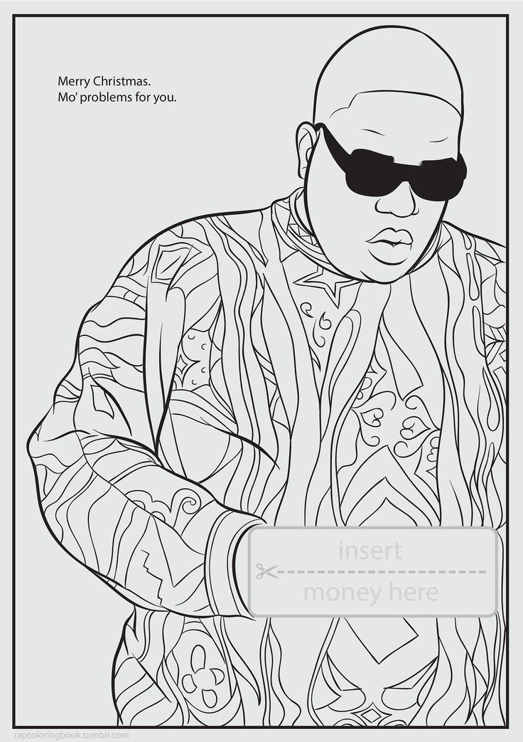 11 best coloring book pages images on pinterest activity for Rapper coloring pages