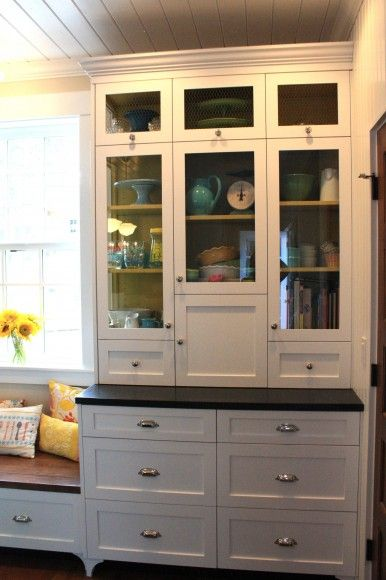 painted the inside of the cabinet the french pale goldby behr - Behr Paint Kitchen Cabinets