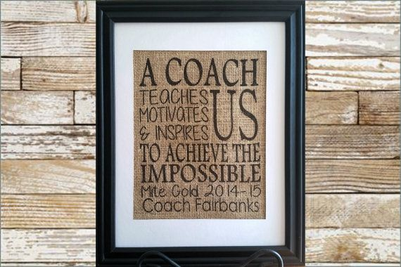 Personalized gift for Coach - A coach teaches us motivates us & inspires us - Coach Gift, Hockey Coach, Baseball Coach, Football Coach Gift