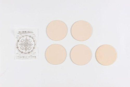 Leather kit coaster round 5 pieces 3 sets 14331 -- Want to know more, click on the image. #LeatherCraftsAccessories