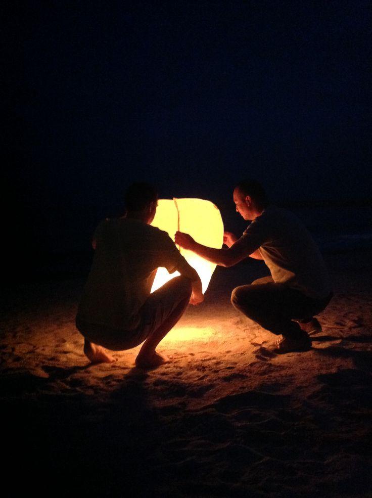 light in the night...on the beach