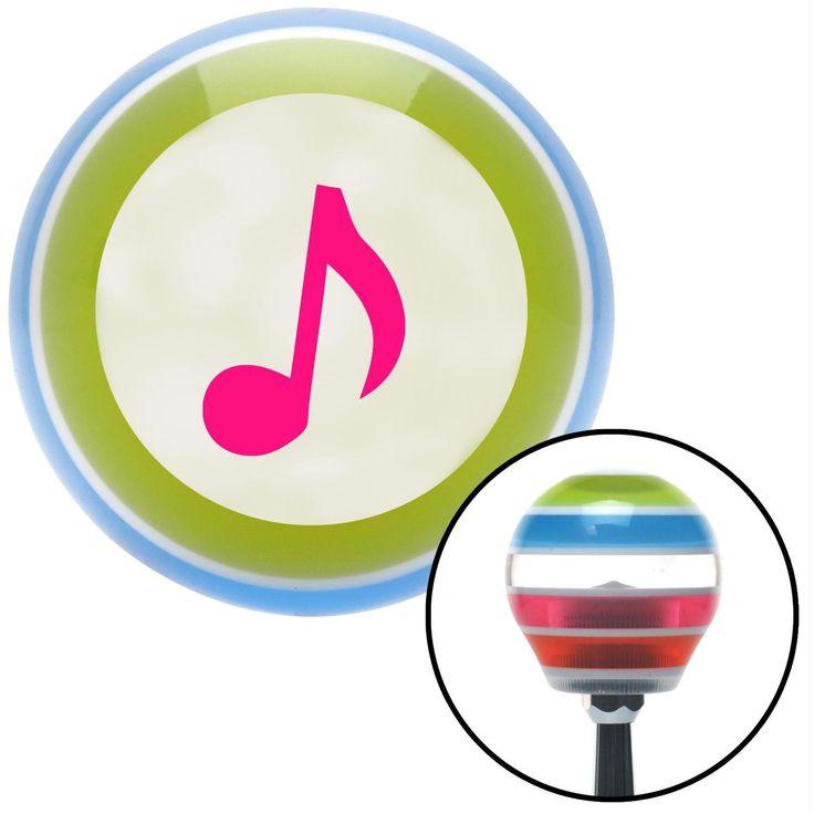 Pink Music Note Stripe Shift Knob with M16 x 15 Insert