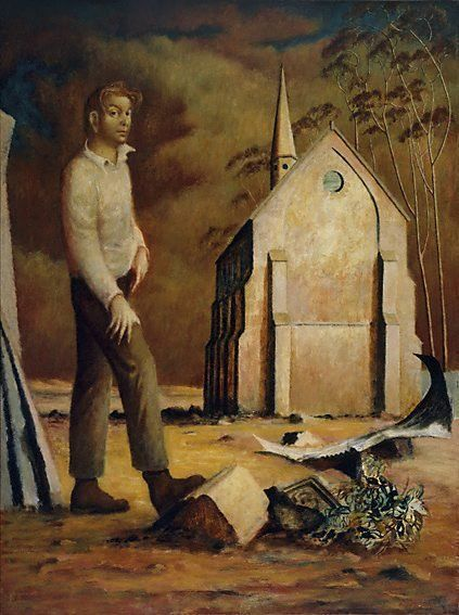 Portrait of Donald Friend (1948) by Russell Drysdale via AGNSW