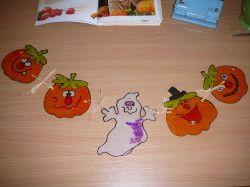 Halloween - dekorace na okno, zápich do květináče... Netradiční využití barev na sklo