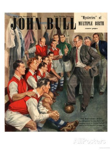 John Bull, Arsenal Football Team Changing Rooms Magazine, UK, 1947 Art Print