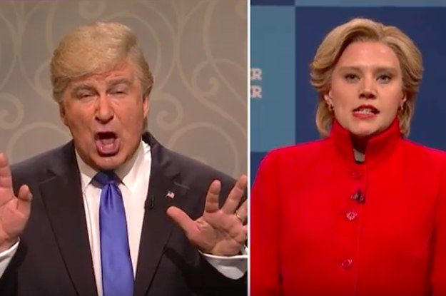 "Trump And Clinton Ran Away From The Election To Give Out Free Hugs On ""SNL"" - BuzzFeed News"