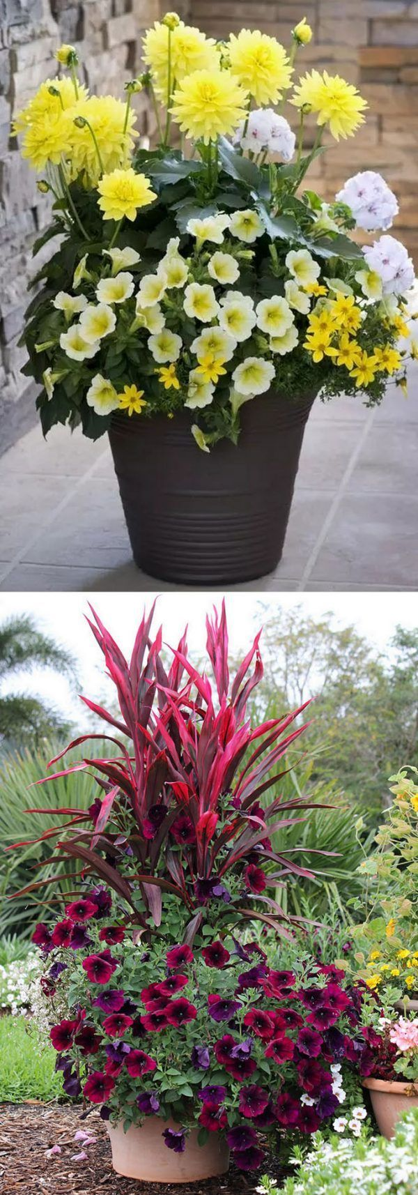 Garden Container Ideas 30 garden container ideas birdbath planter 24 Stunning Container Garden Planting Designs