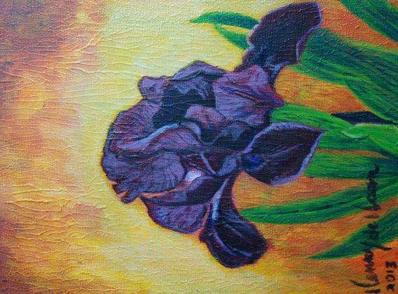 Koop 'Iris (craquele)' van henry de haan voor aan de muur.