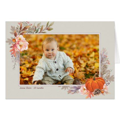 Autumn Harvest Photograph Custom Greeting Card - thanksgiving greeting cards family happy thanksgiving