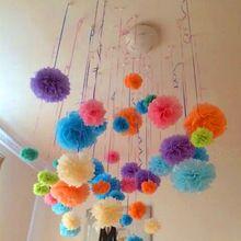 10 unids PomPom papel de bolas de tejido decorativo suministros para casera Wedding del partido decoración DIY favores de la boda y regalos de artesanía(China (Mainland))