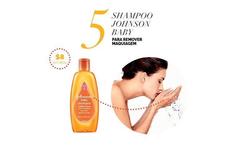 Layla Monteiro dá dicas de produtos para a pele por até 40 reais. Shampoo johnson baby laranja para lavar a pele e remover a maquiagem.