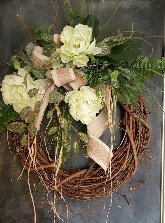 199 Best Wreath Square Images On Pinterest Burlap Door