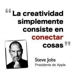 Frases celebres - Steve Jobs #frases #creatividad