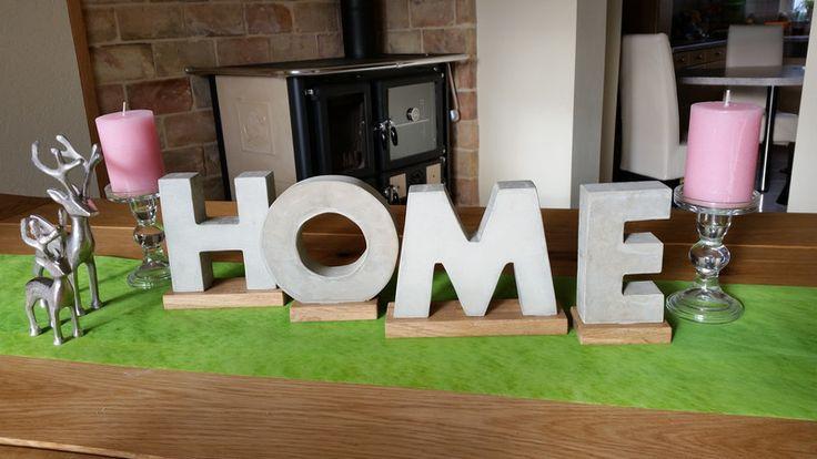 """Beton Buchstaben groß """"HOME"""" von Moosglöckchen ... mit Liebe gemacht... auf DaWanda.com"""