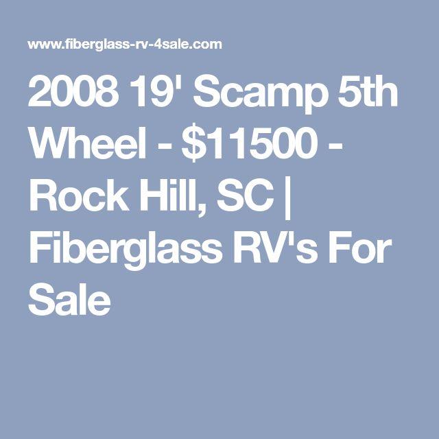 2008 19' Scamp 5th Wheel - $11500 - Rock Hill, SC | Fiberglass RV's For Sale