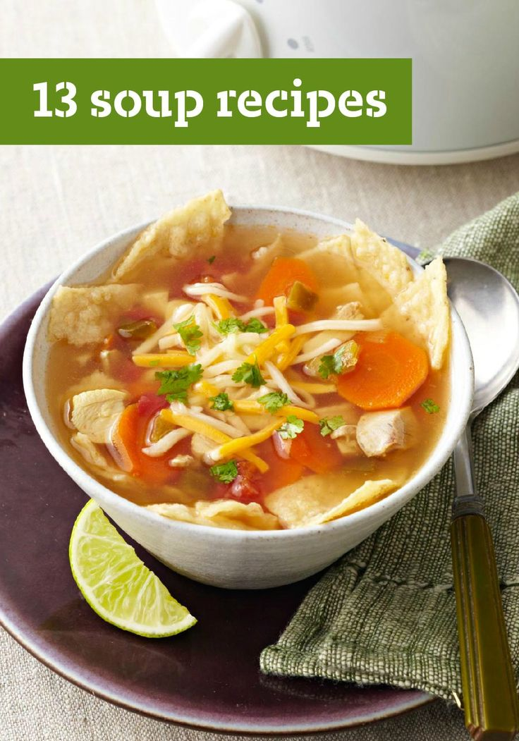 13 Soup Recipes — Is there anything more comforting than a bowl of soup? And everyone knows if you have to use a spoon, it's comfort food to the max. Click here to find the special soup for your family.