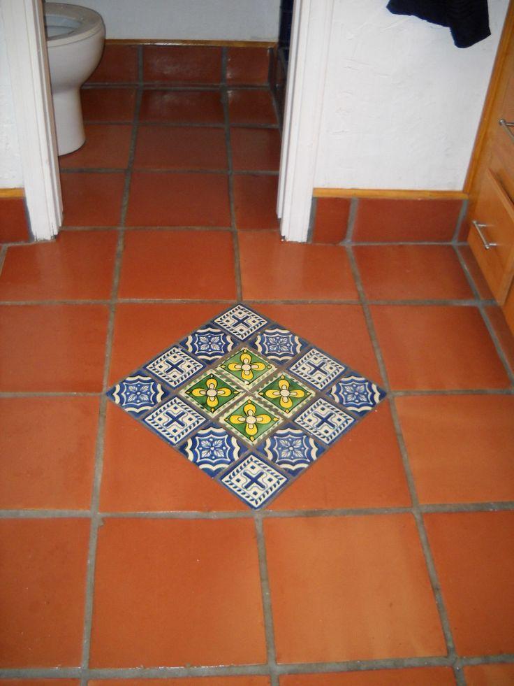 25 best ideas about mexican tile floors on pinterest mexican tile kitchen mexican tiles and - Bathroom tiles talavera ...