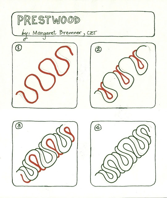 Enthusiastic Artist: PRESTWOOD tangle instructions | Tangle Patterns