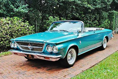 Chrysler : 300 Series   Very rare pace car 1963 Chrysler 300 Convertible the real deal restored sweet