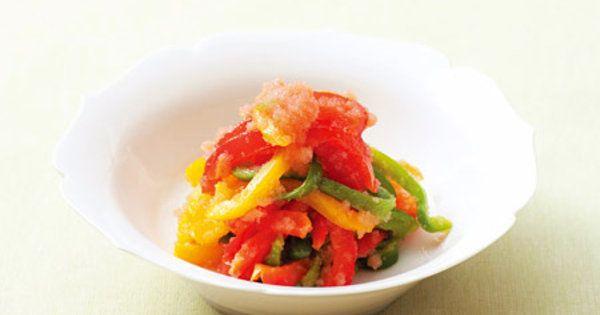 前菜やおつまみにも最適な美肌メニュー。パプリカは野菜の中でもビタミンCがとても多い優秀食材。たらこは、ビタミンEが豊富。葉物系のサラダよりも効率的にビタミンCを補うことができる。|『ELLE gourmet(エル・グルメ)』はおしゃれで簡単なレシピが満載!