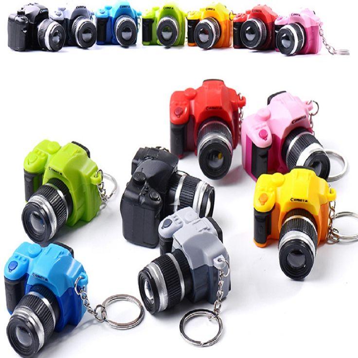 2016 LED Kameras Auto Schlüsselanhänger Spielzeug Sound Glühender Anhänger Puppe Geschenke Kameras Leuchten Spielzeug Keychain Kamera