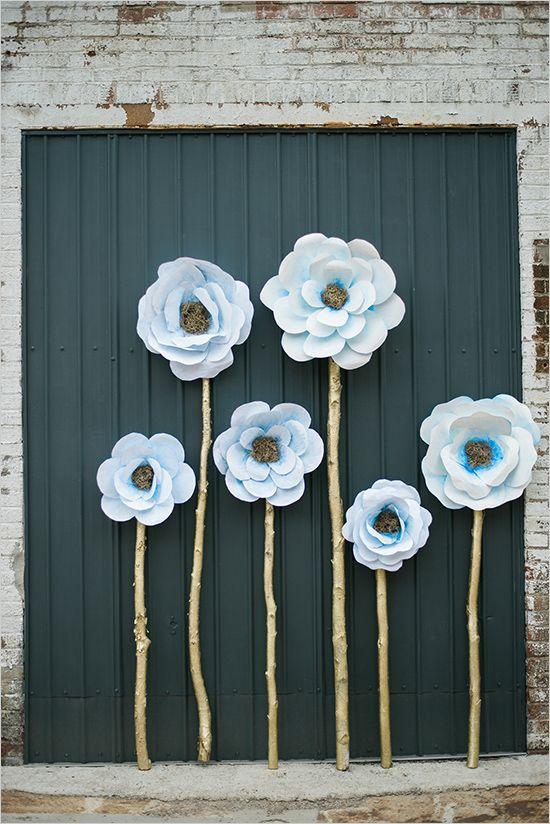 @weddingchicks pano de fundo da flor de papel gigante