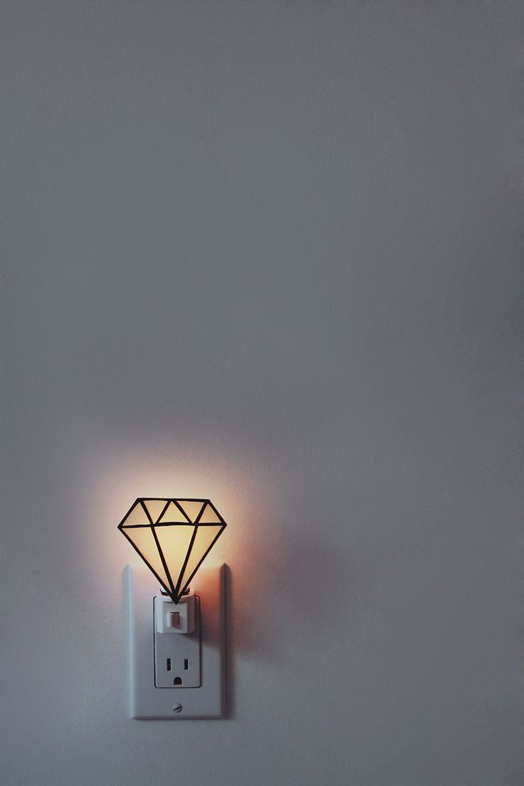 DIY: gem nightlight