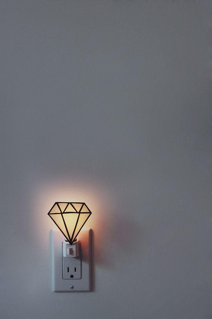 DIY: gem nightlight