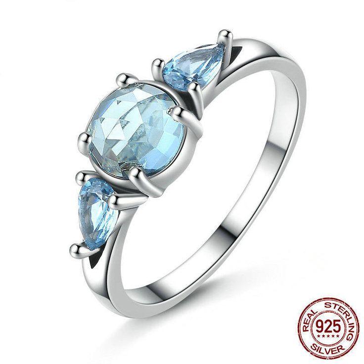 2017 Novità Cristalli di ghiaccio con splendenti zirconi azzurri  perfetto per matrimoni regalo di anniversario e donne di classe  7607 di OceanBijoux su Etsy