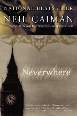 Neverwhere by Neil Gaiman | When Richard Mayhew stops one day to help a girl he finds bleeding on a London pavement, his life is forever altered, for he finds himself propelled into an alternative reality that exists in a subterranean labyrinth of sewer canals and abandoned subway stations. He has fallen through the cracks of reality and has landed somewhere different, somewhere that is Neverwhere.
