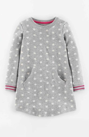 Mini Boden Star Print Sweatshirt Dress (Toddler Girls, Little Girls & Big Girls) | Nordstrom