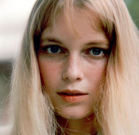 Mia Farrow...her chopped locks solitified her spot, but this is cute!