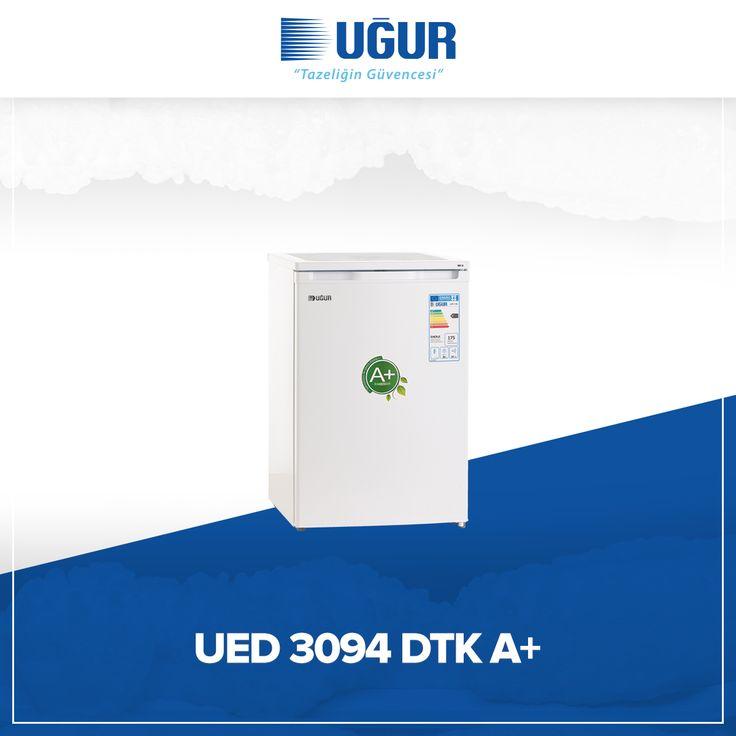 UED 3094 DTK A+ birçok özelliğe sahip. Bunlar; çevreye duyarlı çalışma sistemi, tasarruflu A+ enerji sınıfı, sağlam gövde yapısı, 94 lt geniş iç hacim ve besinleri gruplayarak saklamanıza olanak tanıyan dayanıklı çekmeceler. #uğur #uğursoğutma