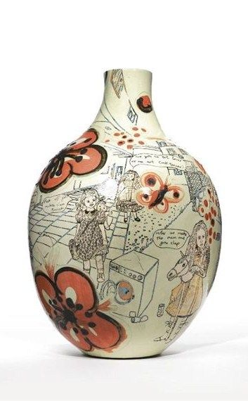 Potter Artist Grayson Perry (British: 1960 - ) | A WEED IS JUST A PLANT IN THE WRONG PLACE