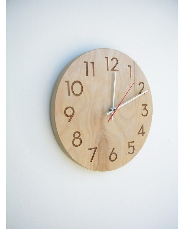 Charming Modern Numbers Clock Gallery