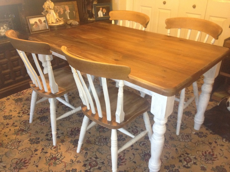 Upcycled Dining Table And Chairs Oak Dining Table