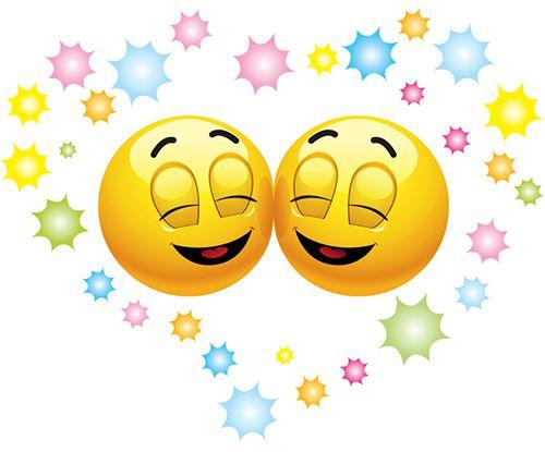 Happy Emoticons in Love