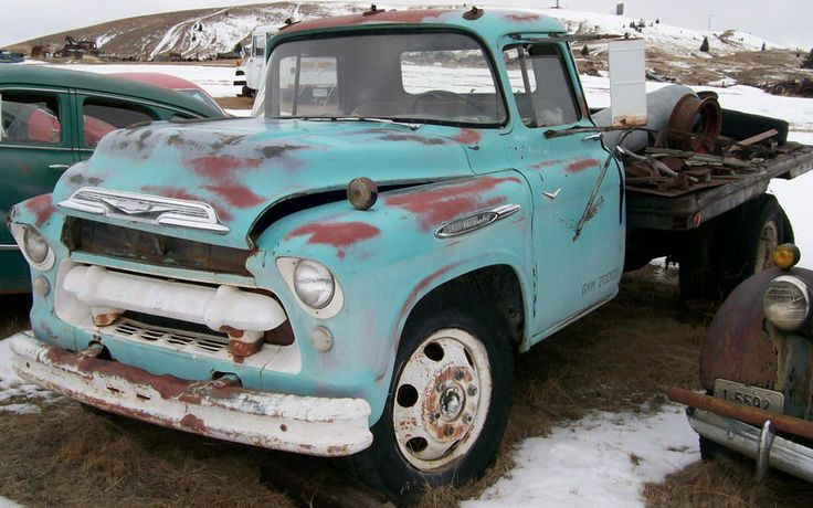 1957 Chevy 6400 Truck | 1957 Chevrolet Series 6400 Two Ton Commerical Flatbed Truck For Sale $ ...