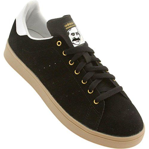 Adidas Stan Smith Vulc Skate - Black / White-Gum, 8.5 D US adidas
