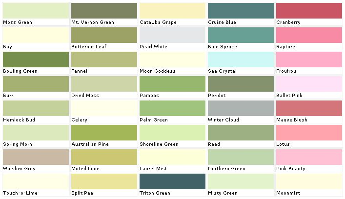 Lowes Paint Color Chart House Chip Sample Swatch Palette Charts For The Home Colors