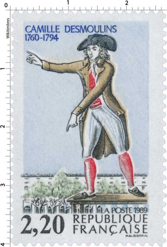 Timbre : 1989 CAMILLE DESMOULINS 1760-1794 | WikiTimbres