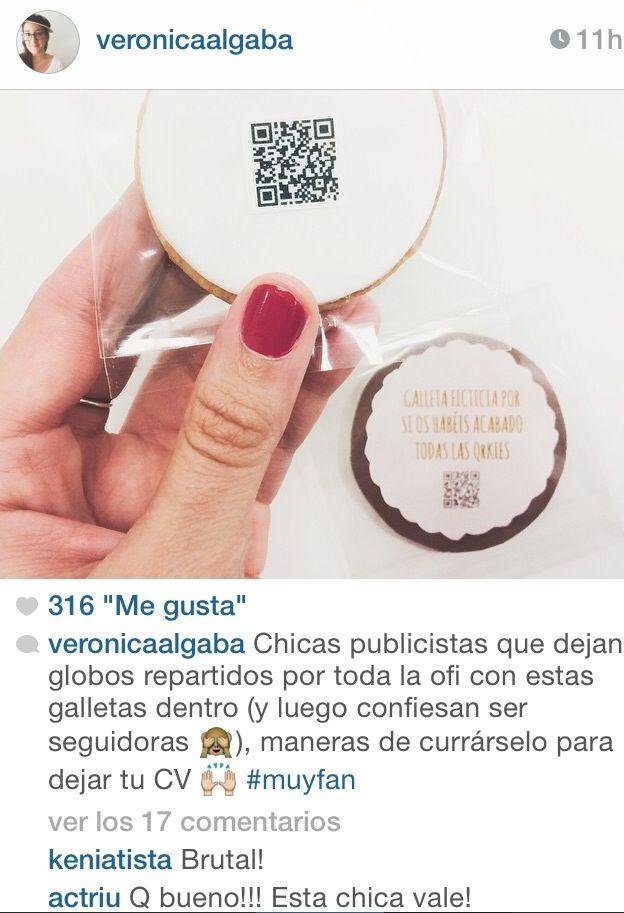 Verónica Algaba me dedica un post para hablar sobre mi CV-Galleta Creativo. Todo un honor!!! ^^
