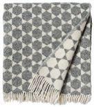 Woolen throw ANNA-LISA grey